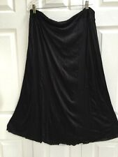 J Jill Wearever XL Black Stretch Knit Pull-On Flare Smooth Fit Skirt NWT