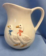 "VTG Otagiri Charming Geese 5.5"" Pitcher / Creamer, Excellent! 1970s"