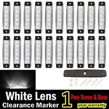 "20 Pcs White 6LED 3.8"" Side Marker Indicators Light Truck Trailer Boat Clearance"