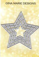 Gina Marie designs metal cutting dies - Big & little Pierced Chain Star