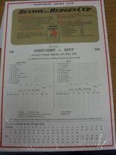 22/07/1978 Cricket Scorecard: Benson And Hedges Cup Final - Derbyshire v Kent [A