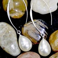 Women Jewelry Pearl Hook Long Drop Dangle Earrings Fashion Jewelry Gift