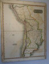 ANTIQUE MAP PERU CHILE LA PLATA 1816 JOHN THOMSON