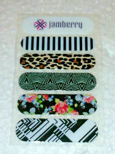 Jamberry Retired Nail Wraps Sample Sheet: 5 Unique Designs Flowers + B&W Images