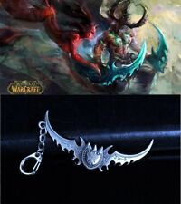 World of Warcraft Metal Keychain Alloy Key Chain Keyring Present Mini Sword Gift