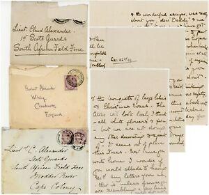 BOER WAR 1900 ALEXANDER FAMILY LETTER MARION + 3 ENVS CLAVERTON RECTORY BATH etc