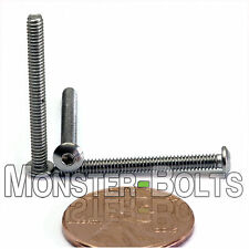 "#3-48 x 1"" – QTY 10 – Stainless Steel BUTTON HEAD Socket Cap Screws A2-70 18-8"