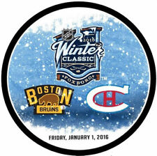 2016 NHL WINTER CLASSIC BOSTON BRUINS VS MONTREAL CANADIENS DUELING PUCK 1/1