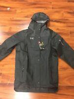 Under Armour Men's Small Black Heavy Duty Waterproof Jacket 1248589- $175 Retail