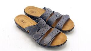 Clarks Collection 22545 Women's Blue Comfort Strap Sandals Size 9 M