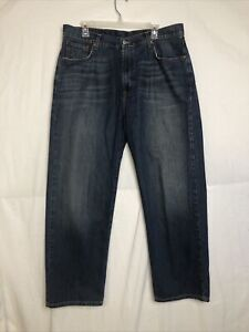 Lucky Brand Mens Dungarees by Gene Montesano Loose Fit Denim Jeans 36 Short