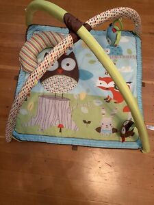 Skip Hop Baby Activity Gym Tummy Time Mat Owl  Fox Woodland Toy 0m+ $80