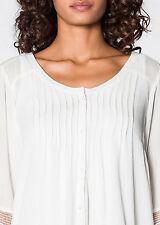 Locker sitzende taillenlange 3/4 Arm Damenblusen, - tops & -shirts ohne Muster