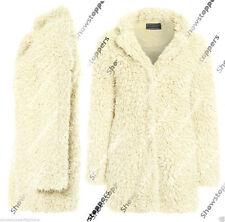 Hip Length Faux Fur Popper Coats & Jackets for Women