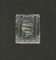 St. Vincent 1862-8 1sh used SG 9