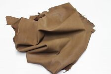 Italian Goatskin leather skin vegetable tanned WASHED OLIVE BROWN 6sqf #A2214