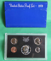 1970 S United States Mint Annual 5 Coin Proof Set with Original Box