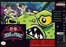 Joe & Mac (Super Nintendo Entertainment System,1992) with Box SNES