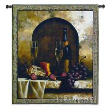 46x53 DATE TO REMEMBER Wine Grapes Tapestry Wall Hanging
