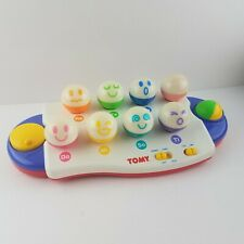 Vintage Tomy Funny Face Musical Piano Keyboard Toy DO RE MI Toddler Educational
