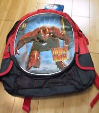 "Iron Man 2 Large 16"" Marvel Book Bag Backpack school bag New w/ Tags"