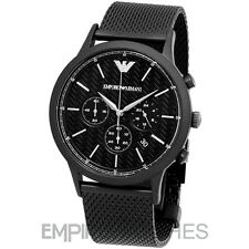 Emporio ARMANI Black Stainless Steel Chronograph Mens Watch AR2498