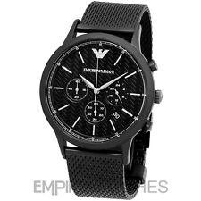 *NEW* MENS EMPORIO ARMANI RENATO BLACK MESH WATCH - AR2498 - RRP £349.00