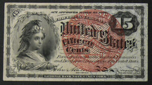1863 15 Cent Fractional  FR-1267 4th Issue American Bank Note Company NICE!!