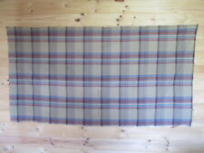 Length of checked brown cotton fabric