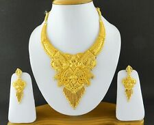 Indian Bollywood Gold Plated Fashion Wedding Necklace Earrings Jewelry Set A61