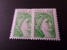 FRANCE 1978, timbre 1977, type SABINE, VARIETE COULEUR, neuf**, VF VARIETY MNH
