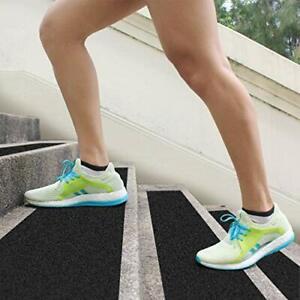 Stair Treads Non Slip Outdoor Tape Black Anti Slip Strips Durable 14 Pack New