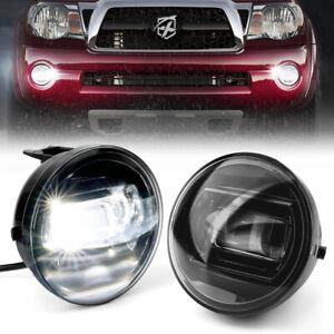 White LED Fog Lights Bumper Driving Lamp for 04-13 Toyota Tundra Tacoma Sequoia