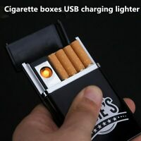 Cigarette Case With Automatic Lighter No Gas Creative USB Electronic Charging