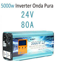 Inverter Onda Pura 5000W LF Convertidor Del Seno DC 24V to AC 230V+LCD+Cargador