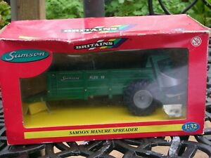 BRITAINS 42080 1:32 SCALE SAMSON MANURE SPREADER BOXED IN GREAT UNUSED CONDITION