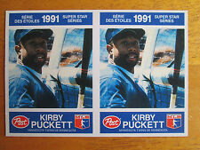 RARE! 1991 Canadian Post UNCUT DOUBLE TEST PROOF - Kirby Puckett #30 Twins