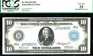 FR # 940-1914 $10 FRN/-KANSAS CITY -105 known  -PCGS 25