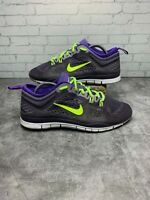 NIKE FREE 5.0 TR FIT WOMEN'S RUNNING SHOES PURPLE/VOLT GREEN 629496-501 sz 7