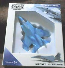 "Denver Die Cast Military military Jet 3,25"" x 2.25"" light blue"