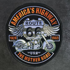 Iron on / Heat Press Patch for Jacket (Route 66) Extra Large 25cm(H) x 23cm(W)