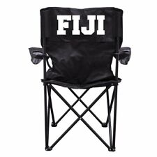 Phi Gamma Delta Black Folding Camping Chair with Carry Bag