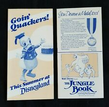 Vtg Disney Ephemera July 8 - 14, 1984 Disneyland Entertainment Schedule