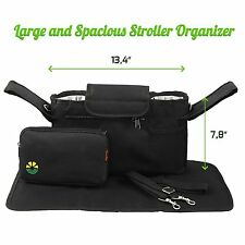 Stroller Organizer Diaper Bag for Babies & Toddlers Universal Fit Insulated Cup