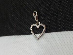 Thomas Sabo Charm Silver Large Twisted Pretzel Style Heart Pendant Bracelet