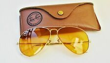 Vintage B&L Ray Ban Usa Aviator Ambermatic 58-14 Changeable All-weather w/ Case