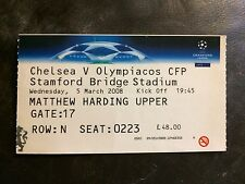 MATCH TICKET - CHELSEA v OLYMPIACOS 2007-08 UEFA CHAMPIONS LEAGUE