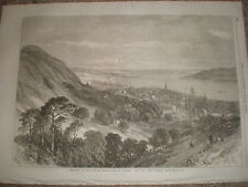 Dundee from Balgay Hill 1867 old print