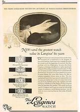 1920s Original Vintage 1926 Longines Wittnauer Art Deco Swiss Watch Print Ad