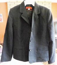 Woman's KGR Lined 100% Wool Black Blazer Size 10 Made in USA